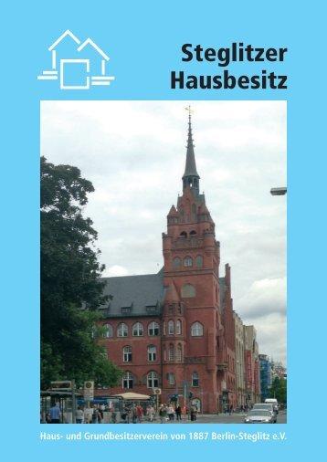 Steglitzer Hausbesitz 2013 - und Grundbesitzerverein von 1887 ...