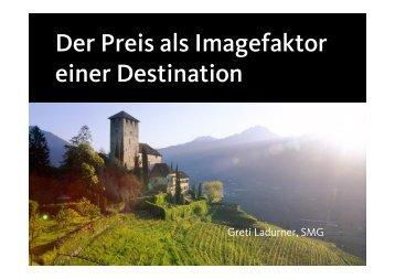 Der Preis als Imagefaktor einer Destination