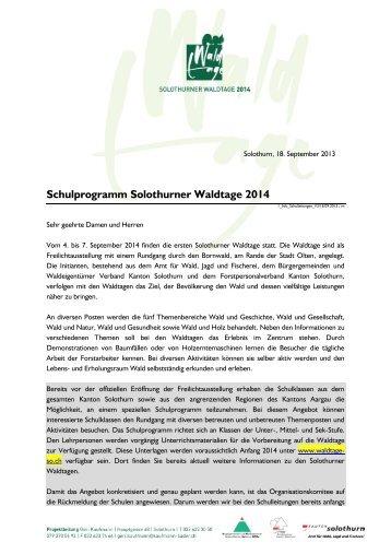 Information für Schulleitungen - BWSo