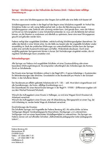 Flyer Springer Schulleitung