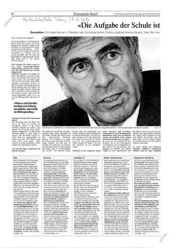 Basellandschaftliche Zeitung, 28.11.13 - LCH