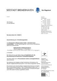 (A 15) am Schulzentrum Bürgermeister Smidt - Bremen