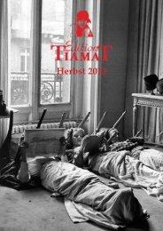 Die Verlagsvorschau Herbst 2013 - Edition Tiamat