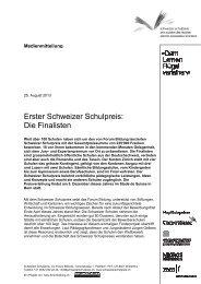 Erster Schweizer Schulpre Die Finalisten Schweizer Schulpreis ...