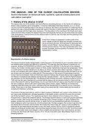 THE ABACUS – ONE OF THE OLDEST CALCULATION DEVICES ...
