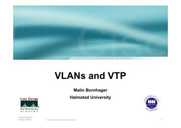 VLANs and VTP