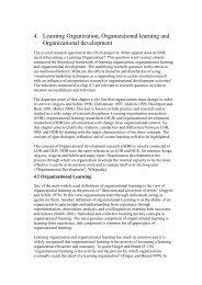 4. Learning Organization, Organizational learning and ...