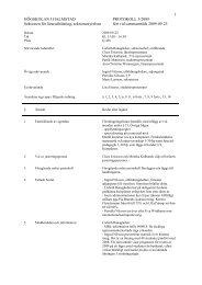 1 HÖGSKOLAN I HALMSTAD PROTOKOLL 5/2009 Sektionen för ...