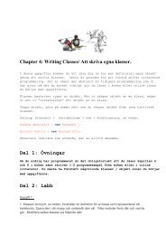 Chapter 4: Writing Classes/ Att skriva egna klasser. Del 1: Övningar ...