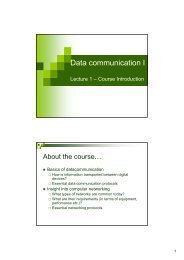 Data communication I