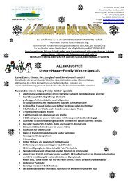 Unsere Happy-Family-Winter-Specials - Waldhotel