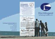 Infoflyer - Flüchtlingsrat Schleswig-Holstein eV