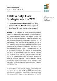 E/D/E verfolgt klare Strategieziele bis 2020
