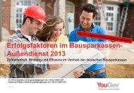 Erfolgsfaktoren im Bausparkassen- Außendienst 2013 - YouGov