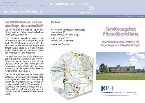 Serviceangebot Pflegeüberleitung - Klinikum Region Hannover GmbH