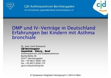 DMP und IV-Verträge in Deutschland Erfahrungen bei Kindern mit ...