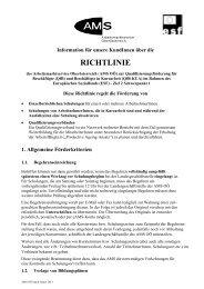 Qualifizierungsförderung für Beschäftigte - Richtlinie