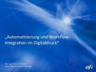 Automatisierung und Workflow Integration im Digitaldruck - CIP4