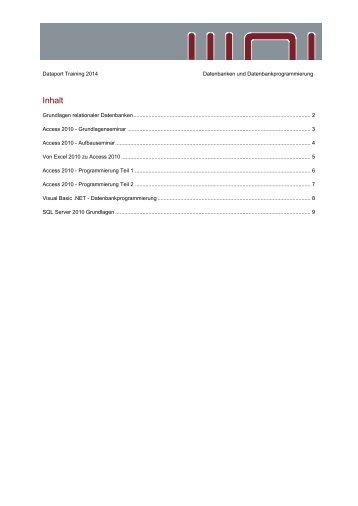 Schulungsangebot Dataport Training