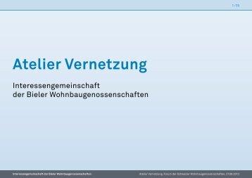 Atelier Vernetzung - 5. Forum der Schweize Wohnbaugenossenschaften ...
