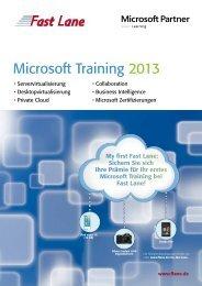 Microsoft Training 2013 - Fast Lane