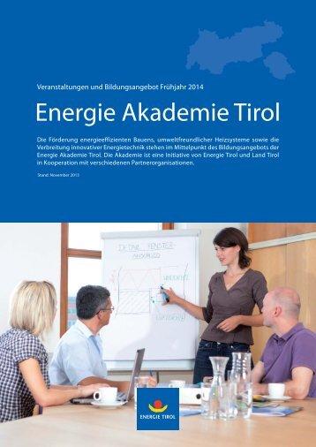 Energie Akademie Kursprogramm FJ_2014.indd - Energie Tirol