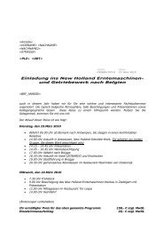 und Getriebewerk nach Belgien - Handelshof Landtechnik GmbH