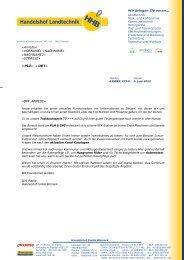 PLZ» «ORT» - Handelshof Landtechnik GmbH