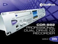 CDR-882 PROFESSIONAL DUAL DRIVE CD RECORDER - HHb