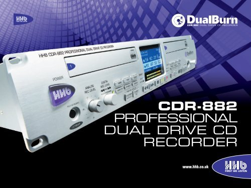 CDR-882 PROFESSIONAL DUAL DRIVE CD RECORDER - HHb