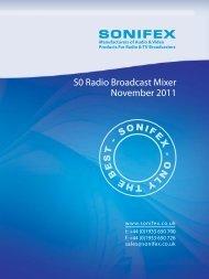 S0 Radio Broadcast Mixer November 2011 - HHb