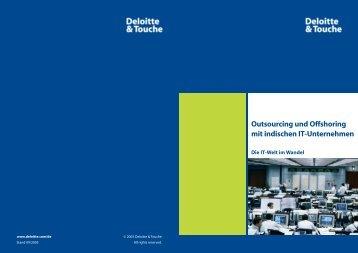 Studie Outsourcing und Offshoring mit indischen It-Unternehmen