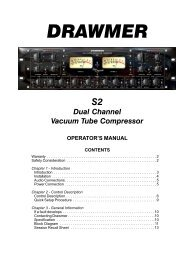 DRAWMER S2 Dual Channel Vacuum Tube Compressor ... - HHb