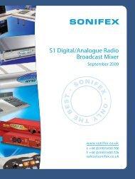 S1 Digital/Analogue Radio Broadcast Mixer - HHb