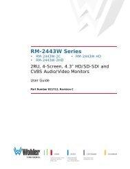 RM-2443W Series User Guide - HHb