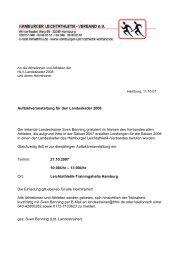 Auftaktveranstaltung für den Landeskader 2008 Der leitende ...