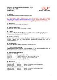 Deutsche Straßenlaufmeisterschaften 10km 12. September 2009 in ...