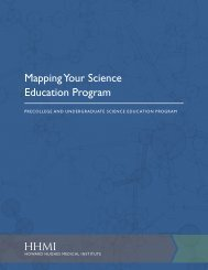 mapping Your Science education Program