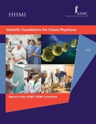 Scientific Foundations for Future Physicians - Howard Hughes ...