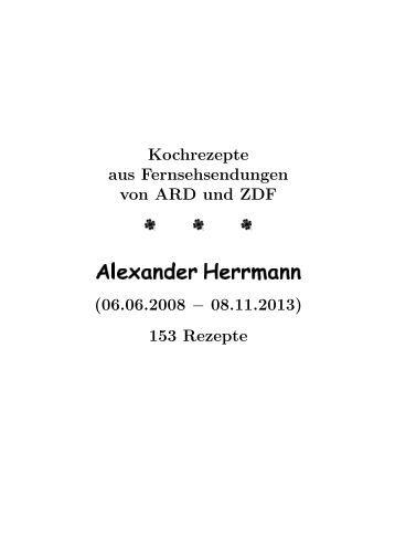 Alexander Herrmann PALAZZO tischt wieder auf! | {Alexander herrmann rezepte & tipps 88}