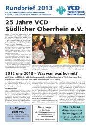 Rundbrief 2013 für Südbaden - VCD