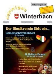 Mitteilungsblatt KW 44/2013 - Gemeinde Winterbach