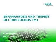 warum cenit und ibm cognos tm1?