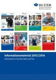 Informationsmaterial 2013/2014 - Die BG ETEM