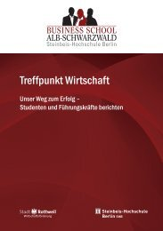 Unser Tagungsband - zum Download - Business School Alb ...