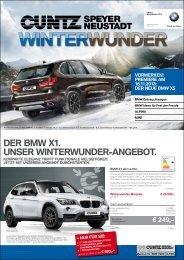 DER bMW x1. UNSER WINTERWUNDER ... - Autohaus Cuntz