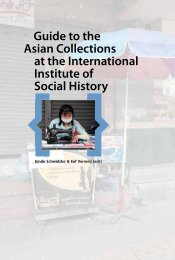 Guide to the Asian Collections at the IISH - International Institute of ...