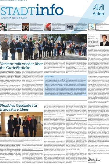 """""""Stadtinfo"""" 38. Kalenderwoche - 18. September 2013 ... - Stadt Aalen"""