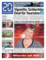 Vignette: Schlechter Deal für Touristen - 20 Minuten