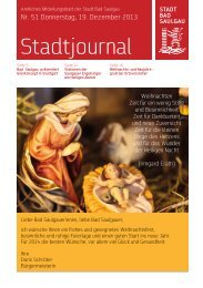 Stadtjournal Ausgabe 51/2013 - Stadt Bad Saulgau